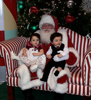 Santa Claus with Kids on Christmas