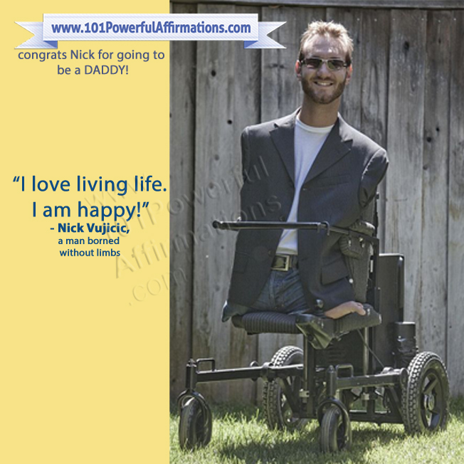 Nick Vujicic is going to be a Daddy!
