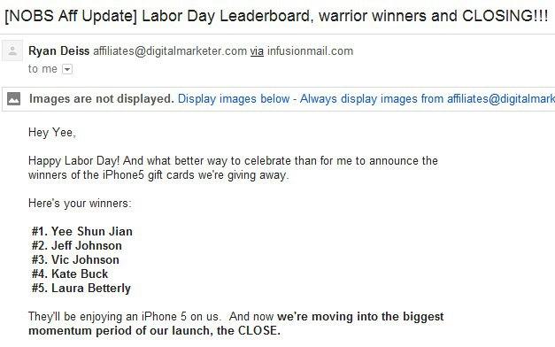 Won iPhone 5