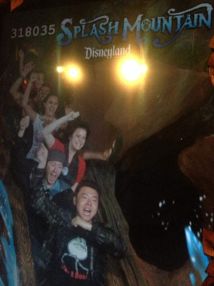 Going down Disneyland Splash Mountain Gangnam Style like a BOSS!