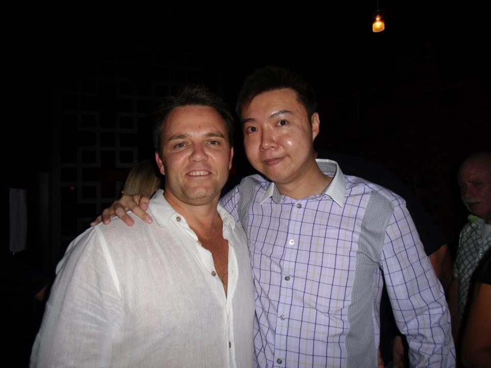Glen Ledwell with Yee Shun-Jian