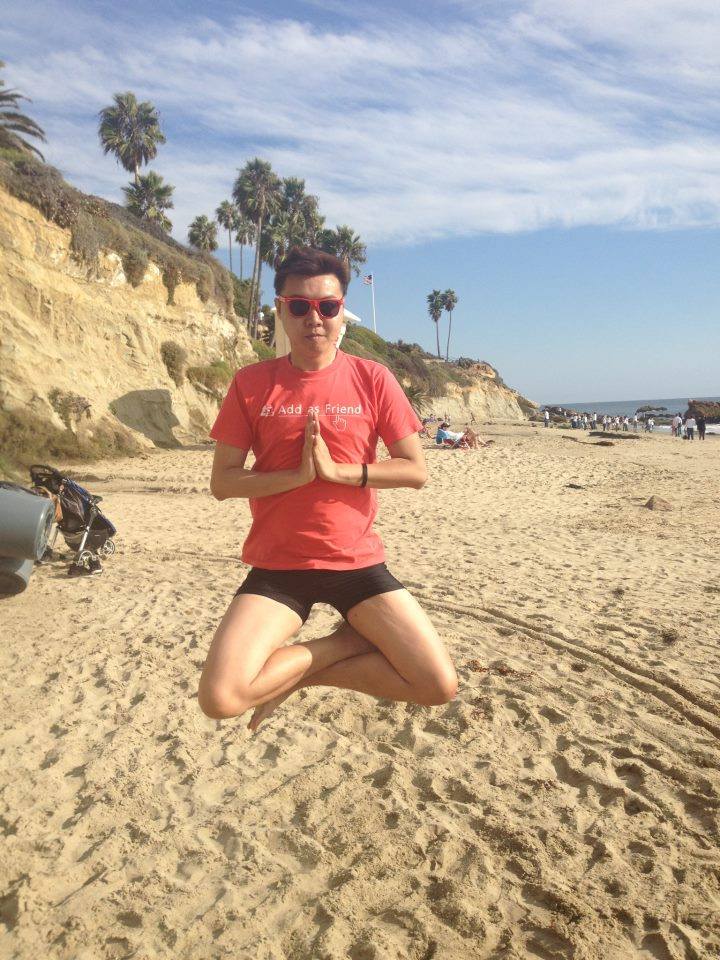 Levitating at Laguna Beach