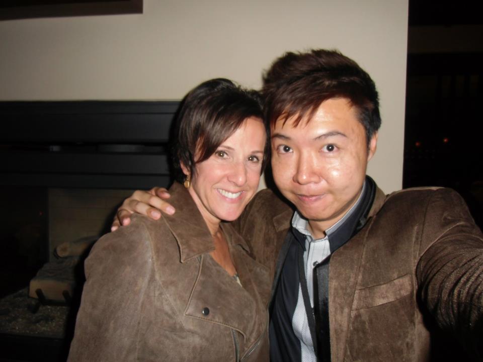 Marcia Wieder with Yee Shun-Jian