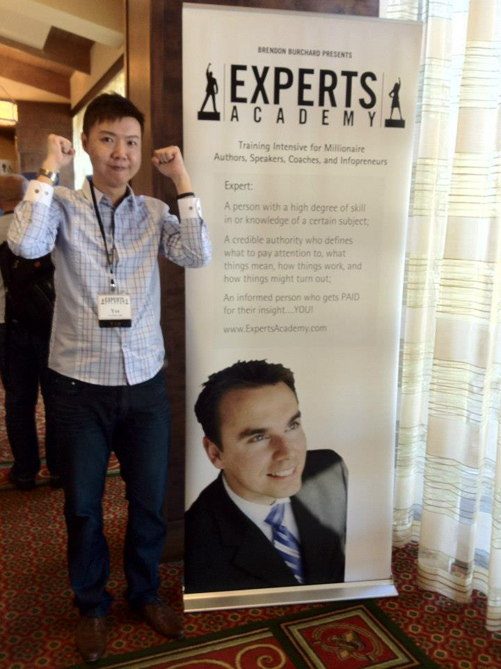 At Brendon Burchard's Experts Academy Live Event